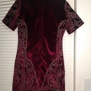 Chelsea & Violet Dresses - Chelsea and Violet embroidered velvet dress